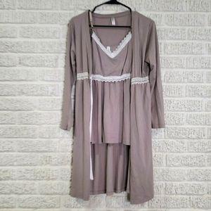 Belabumbum Nursing Cami & Robe Set